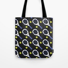 Tennis Pattern (Black/Purple) Tote Bag