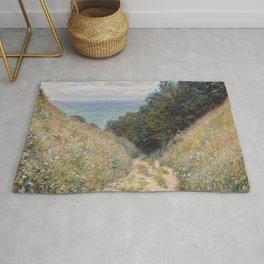 Road at La Cavée, Pourville by Claude Monet Rug