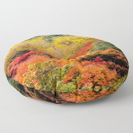Autumn Forest Floor Pillow