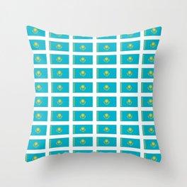flag of Kazakhstan -Kazakhstan,Kazakh,Қазақстан,Казахстан,Kazakhstani,Astana. Throw Pillow
