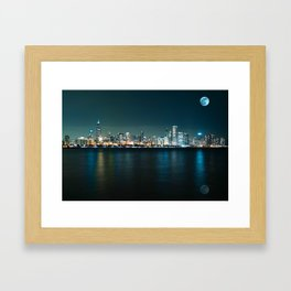 Panorama View of Adler Planetarium, Chicago, United States 1A Framed Art Print