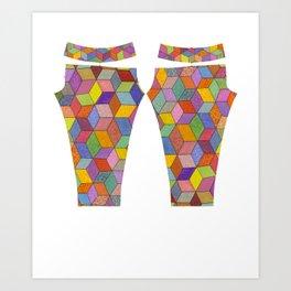 Swirly Cubes Art Print
