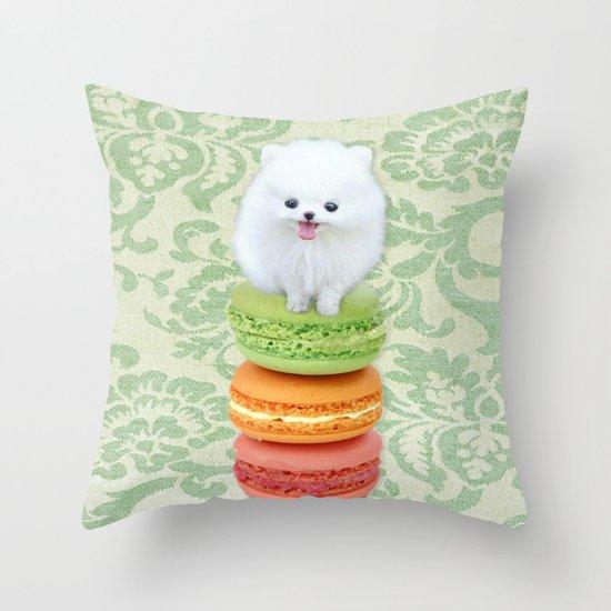 Mt. Macarone Throw Pillow