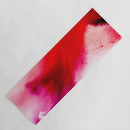 Slow Burn: simple abstract ink on paper in red, purple, and pink Yoga Mat