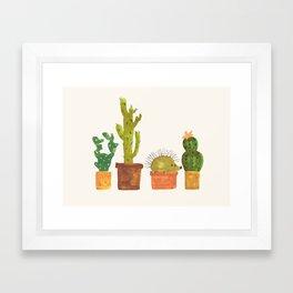 Hedgehog and Cactus (incognito) Framed Art Print
