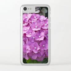 Hydrangea Pink Clear iPhone Case