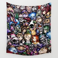 the legend of zelda Wall Tapestries featuring The Legend of Zelda by Sandra Ink