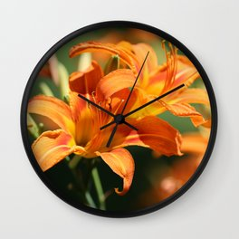 Day Lily Dance Wall Clock