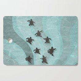 Loggerhead sea turtle hatchlings Cutting Board