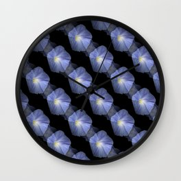Morning Glory Illusion On Black Wall Clock