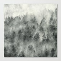 smoke Canvas Prints featuring Everyday by Tordis Kayma