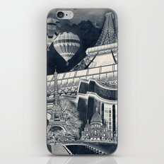French Collage v1 Negative iPhone & iPod Skin