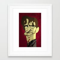 will graham Framed Art Prints featuring Will Graham by nachodraws