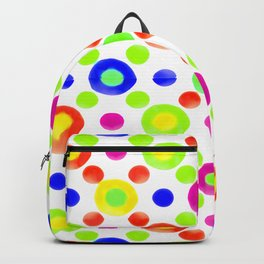 Multicolored Circles Motif Pattern Backpack