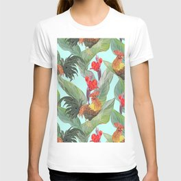 red fire roosters T-shirt