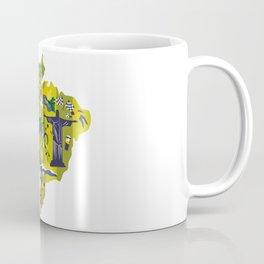 Abstract Brazil Soccer Mural Coffee Mug
