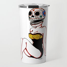 Calavera Pin Up Travel Mug
