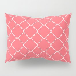 Coral Red Moroccan Pillow Sham