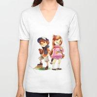 gravity falls V-neck T-shirts featuring Gravity Falls by Archiri Usagi