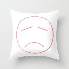 Unsmile Throw Pillow
