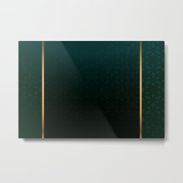 Emerald and Gold Accents Metal Print
