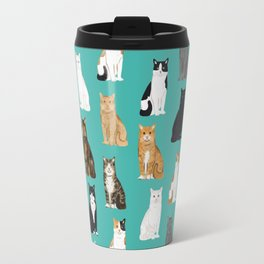 Cat lover must have gifts for cat ladies cat men kitty cats Travel Mug
