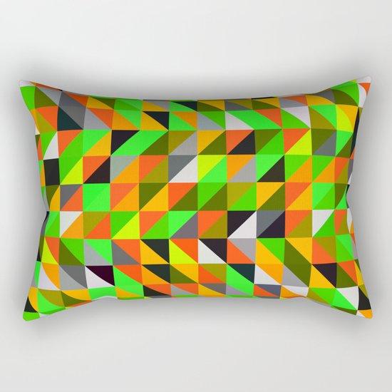 twerl triangles Rectangular Pillow