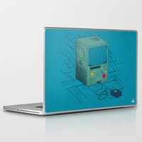 video game Laptop & iPad Skins featuring Old Video Game Console by ellygeh | Elly Medeiros