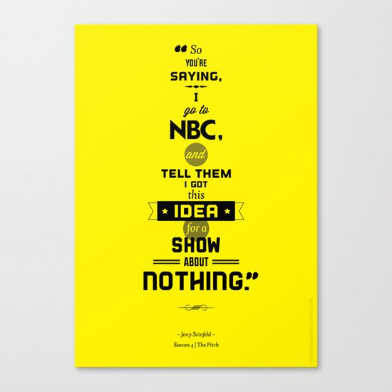 Seinfeld Posters - The Pitch Canvas Print