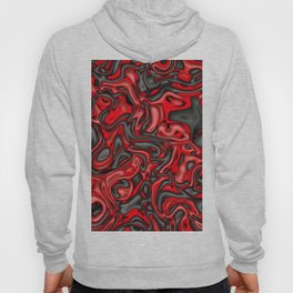 Funky Melted black and red Hoody