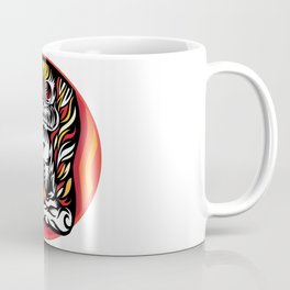 Illustration Demon in the lotus position Coffee Mug
