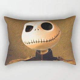 Jack Skellington General Portrait Painting   Fan Art Rectangular Pillow
