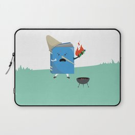 cute book character cooking in the park Laptop Sleeve