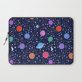 Astrology Zodiac Constellation in Midnight Blue Laptop Sleeve