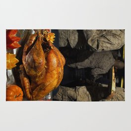 Thanksgiving Turkey for US Military Servicemen  Rug