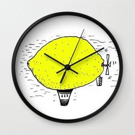Lemon zeppelin Wall Clock