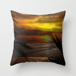 Sunset Palms ~ Pacific Ocean ~ California Throw Pillow