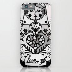 Gray matryoshka by Lilach Vidal iPhone 6 Slim Case