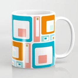 Retro Mid Century Modern Colorful Squares Coffee Mug