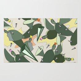 Cacti Explosion - Abstract Digital Print Rug