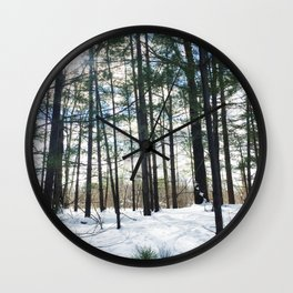 Winter Woods1 Wall Clock