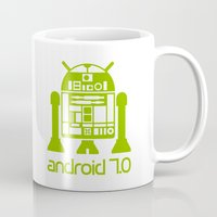android Mugs featuring Android 7 by andyk77