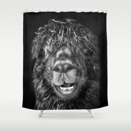 Alpaca. Happy Dayz Shower Curtain