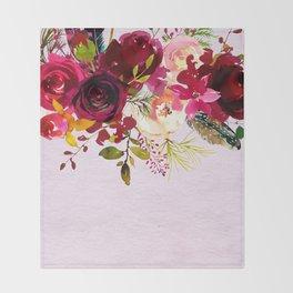 Flowers bouquet #38 Throw Blanket