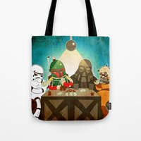poker Tote Bags featuring Poker by Matt Sinor