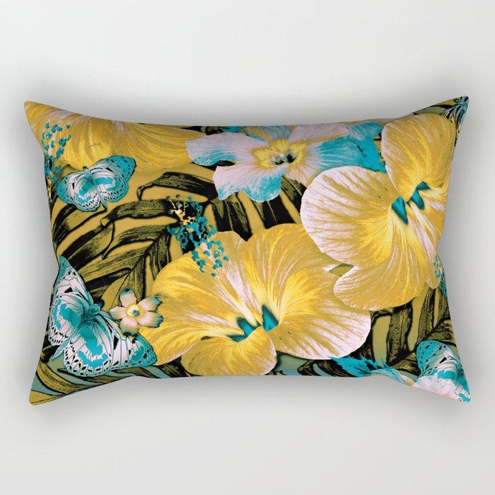 Golden Vintage Aloha Rectangular Pillow