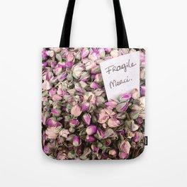 Fragile flowers, Nice France Tote Bag