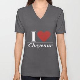Cheyenne Wyoming WY Wyomingite Unisex V-Neck
