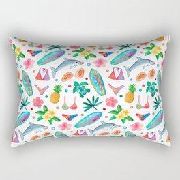 Dotty Summer Beach Pattern Rectangular Pillow