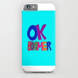 OK BOOMER in 1960s colors iPhone Case
